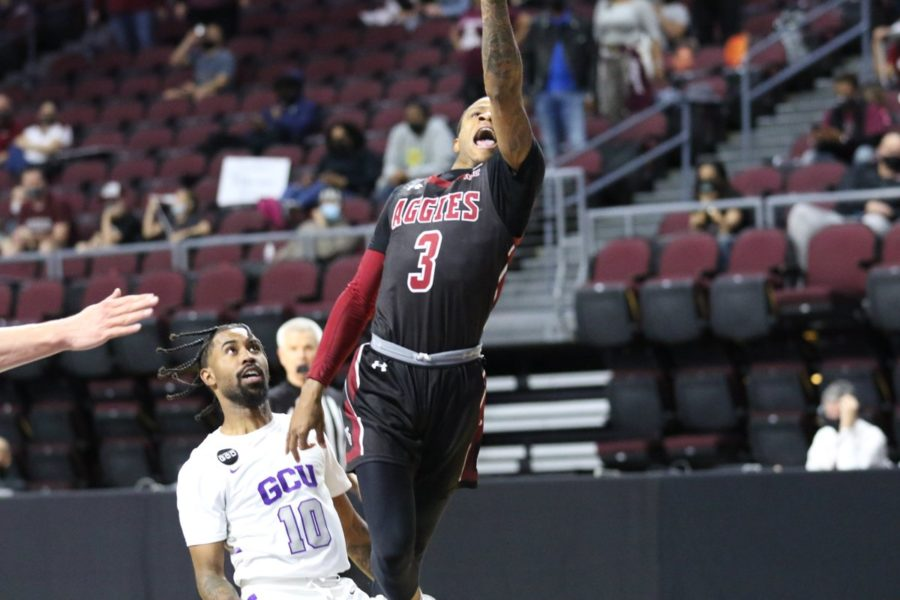 Evan+Gilyard+socres+18+in+the+Aggies%27+74-56+defeat+to+Grand+Canyon.+%28Photo+courtesy+of+NMSU+Athletics%29