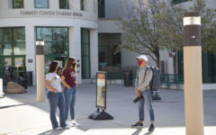 Signs of normalcy on campus are beginning to return, such as these interviews led by the NMSU Marketing Department for their project, Be Bold 2025.