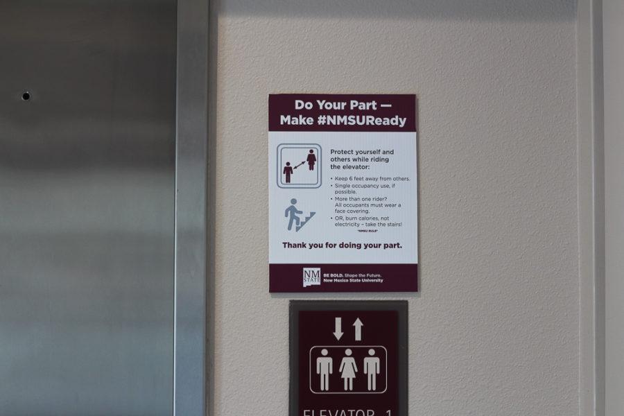 COVID Signs around campus