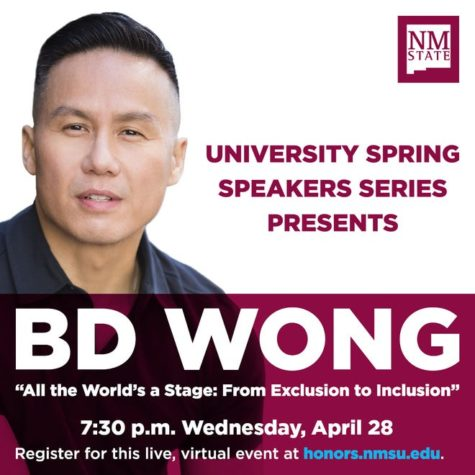 "BD Wong discusses his life and experiences as a guest speaker for the Honors College ""Speaker Series"""