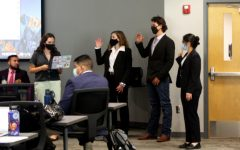 Senators Sarah Roderick (left), Caleb Doss (middle) and Sophia Annette Pettes (right) were sworn in on Aug. 26 in the first meeting of the 65th Senate.