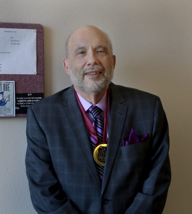Dr. Edward Pines and his fourth Donald C. Roush Award for Teaching Excellence
