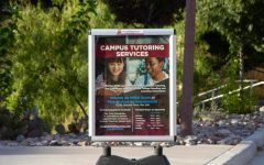 Campus tutoring services informational poster located in NMSU main campus